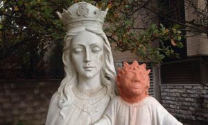 Baby Jesus Statue with orange head